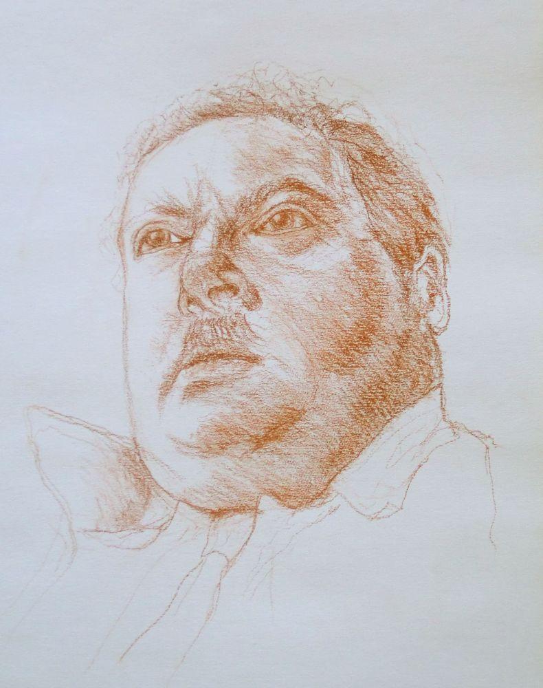 Portraitstudie (3) Rötel ca.40x30cm