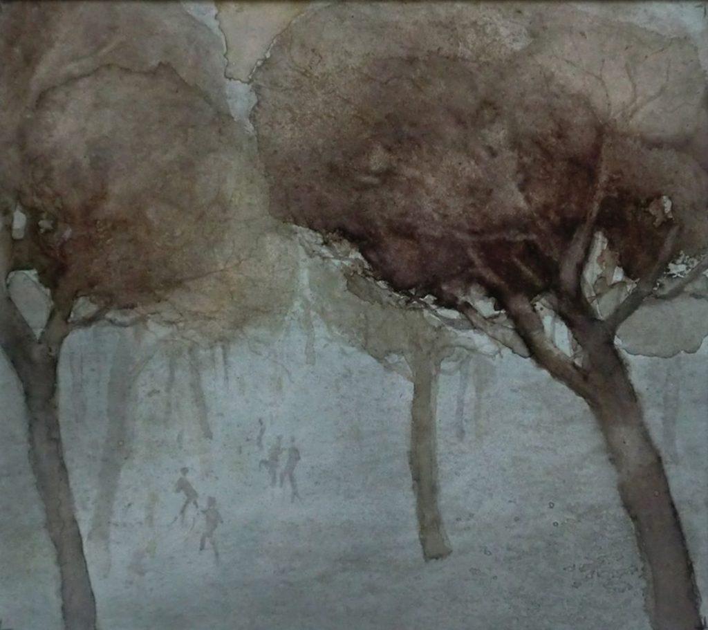 """""""Waldlichtung"""" Aquarell 29x33cm"""