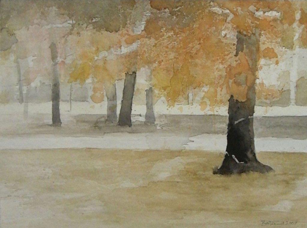 """Herbst im Englischen Garten"" (2) Aquarell 30x40cm"