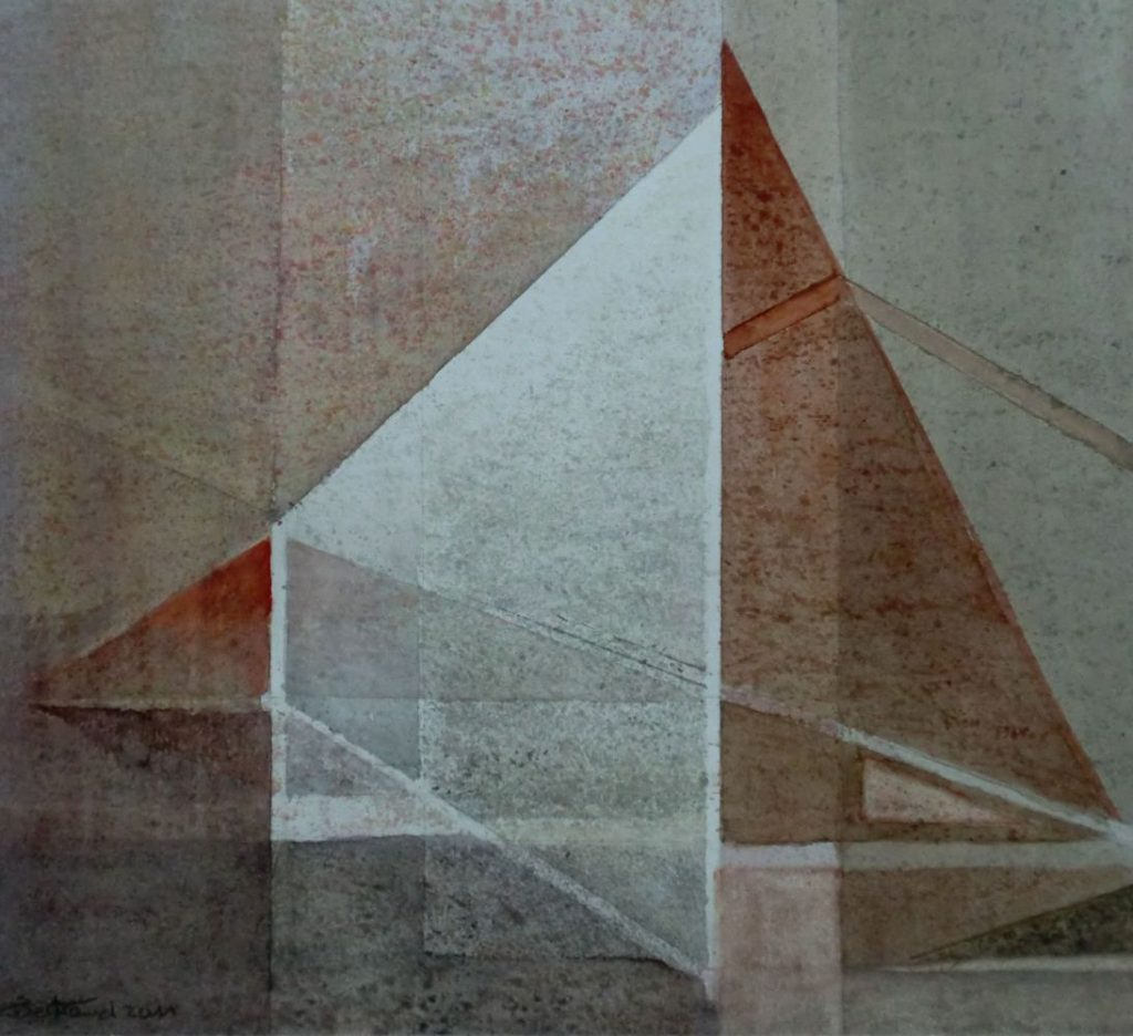 """Segellandschaft"" (3) Aquarell 31x34cm"