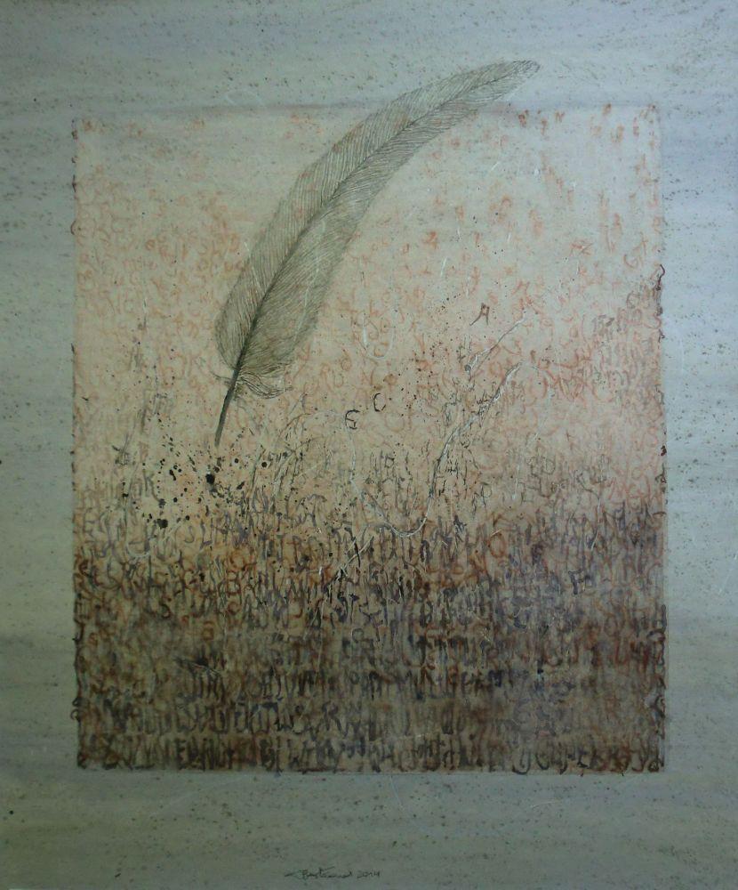 """Lettern"" (2) Aquarell 58x46cm"