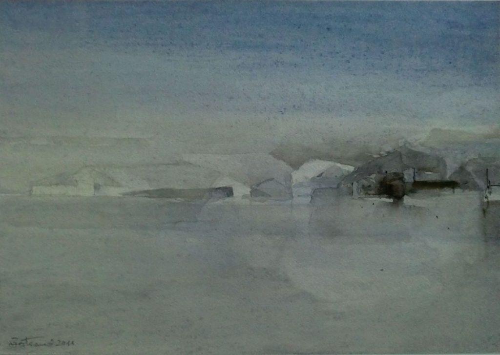 """ Winterlandschaft ""Aquarell 30x42cm"