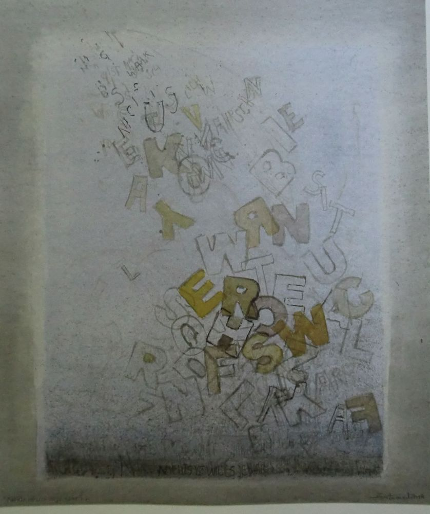 """Lettern"" (3) Aquarell 54x46cm"