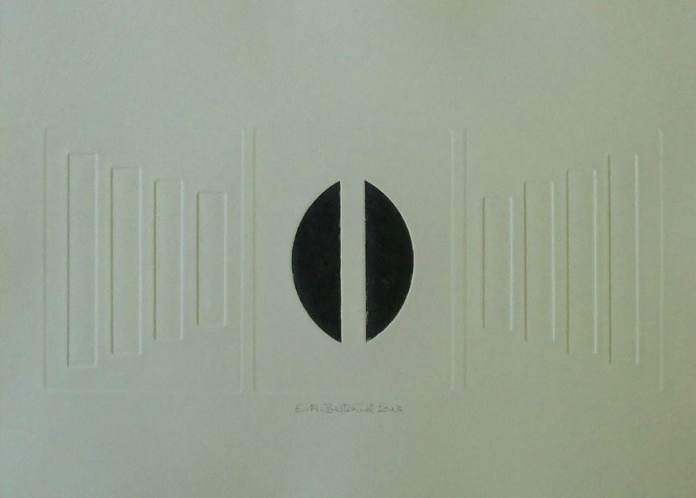 o.T. Prägedruck+Aquatinta 20x30cm