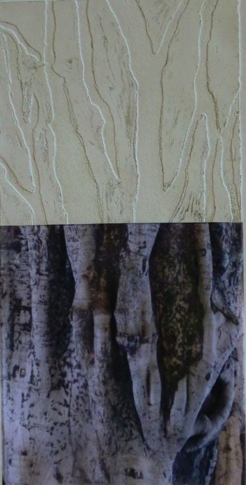 o.T. Tiefenätzung+Collage 30x15cm