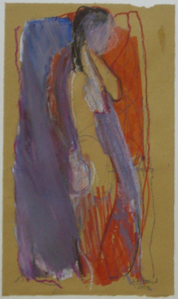o.T. Buntstift+Aquarell 25x15cm