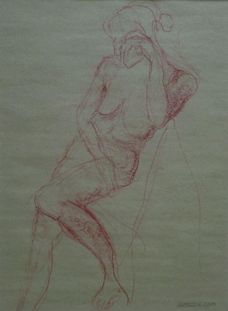o.T. Rötel 41x31cm