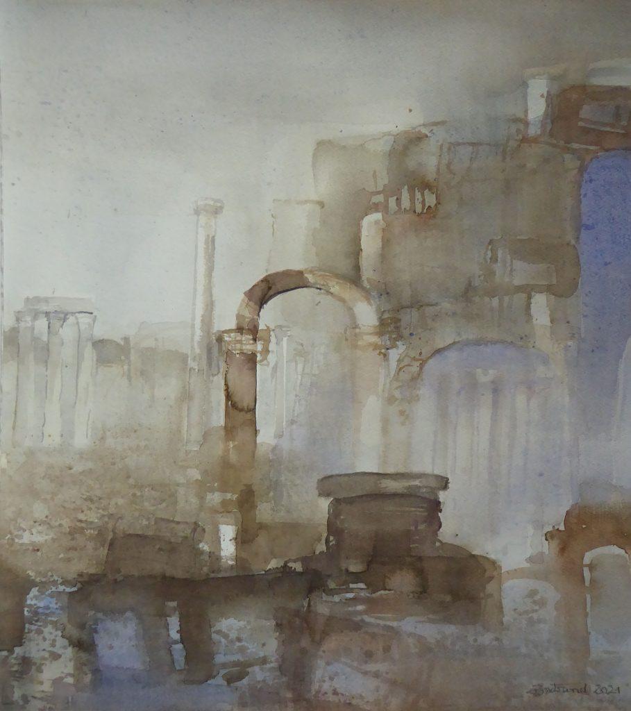 """Palmyra"" ( 1 ) Aquarell 53x48cm"