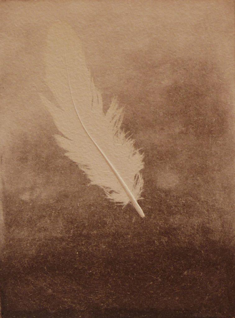 o.T. Radierung mit Collage 20x15cm